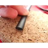 """Ротанг искусственный """"Полумесяц"""" 7 мм, черный текстура гладкая"""