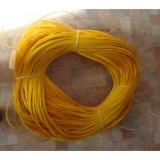 """Ротанг искусственный """"Полумесяц"""" 7 мм, жёлтый 22222, текстура гладкая"""