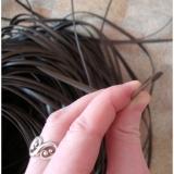 """Ротанг искусственный """"Полумесяц"""" 6 мм, шоколадный, текстура гладкая"""