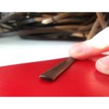 """Ротанг искусственный """"Полумесяц"""" 9 мм, шоколадный, текстура гладкая"""
