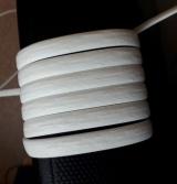 """Ротанг искусственный """"Полумесяц"""" 6-12 мм, белый, тиснение кора дерева"""