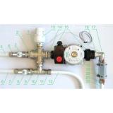 Насосно-смесительный узел для теплого пола Valtec VT.COMBI.0.180 с термоголовкой