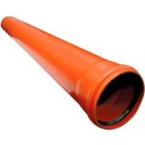 Труба ПВХ 110 гладкая 1 м